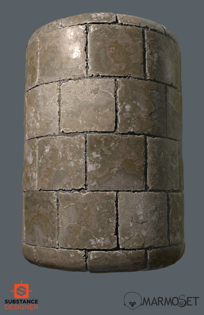 substance designer medieval floor tiles