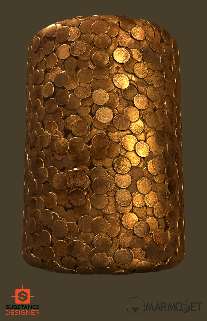 substance designer medieval gold coins