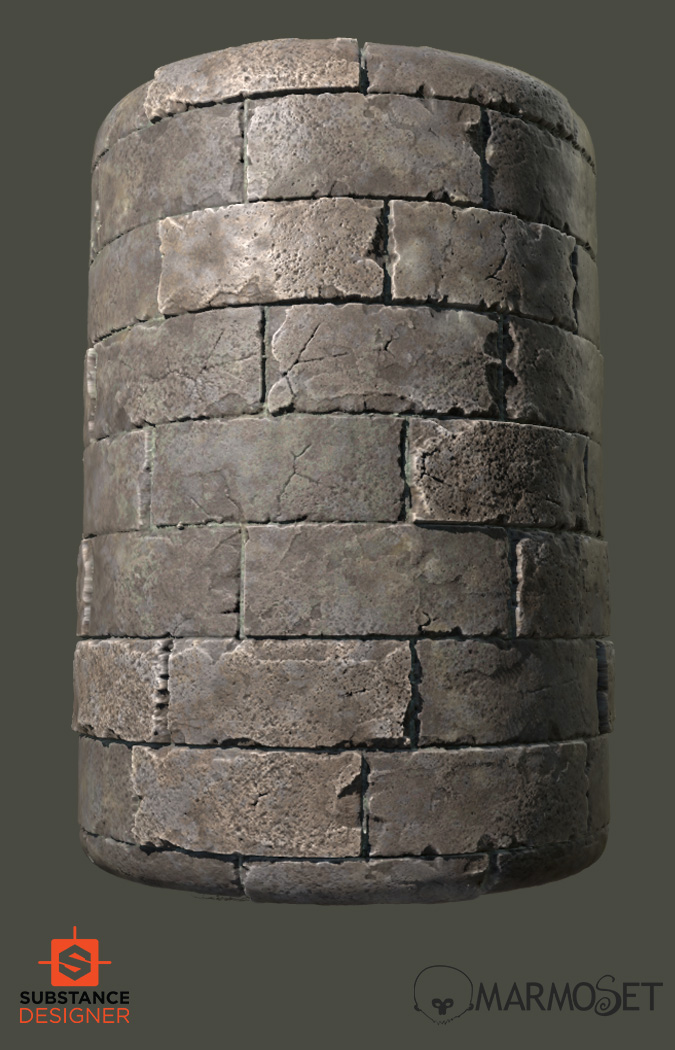 substance designer medieval bricks